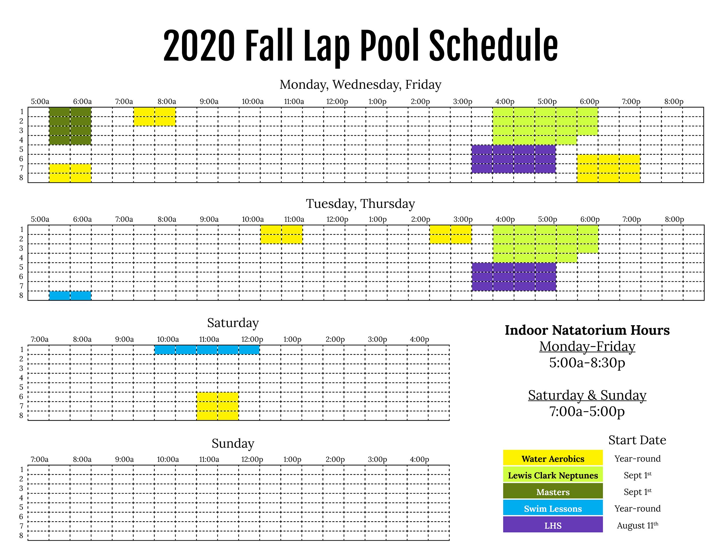 2020-Fall-Lap-Pool-Schedule